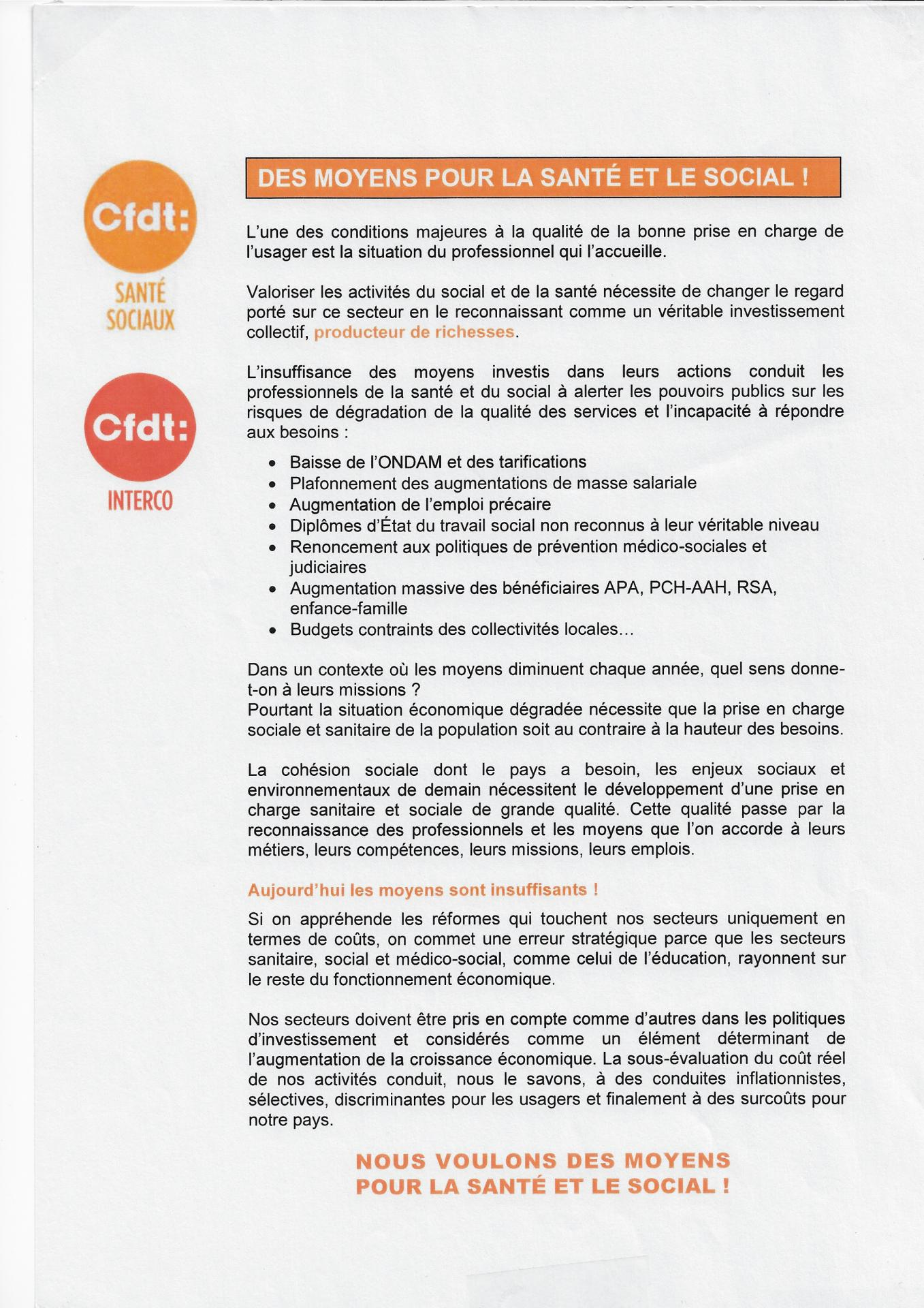 Condition travail ehpad cfdt 1